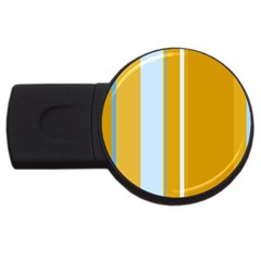 Yellow Elegant Lines Usb Flash Drive Round (2 Gb)  by Valentinaart