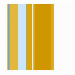 Yellow Elegant Lines Large Garden Flag (two Sides) by Valentinaart