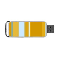 Yellow Elegant Lines Portable Usb Flash (one Side) by Valentinaart