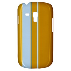 Yellow Elegant Lines Samsung Galaxy S3 Mini I8190 Hardshell Case by Valentinaart