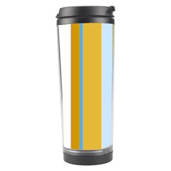 Yellow Elegant Lines Travel Tumbler by Valentinaart