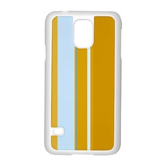 Yellow Elegant Lines Samsung Galaxy S5 Case (white) by Valentinaart