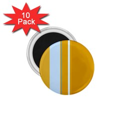 Yellow Elegant Lines 1 75  Magnets (10 Pack)  by Valentinaart