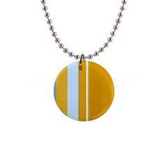 Yellow Elegant Lines Button Necklaces by Valentinaart