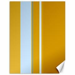 Yellow Elegant Lines Canvas 12  X 16   by Valentinaart