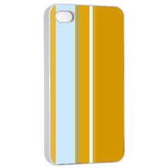 Yellow Elegant Lines Apple Iphone 4/4s Seamless Case (white) by Valentinaart