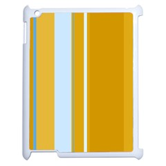 Yellow Elegant Lines Apple Ipad 2 Case (white) by Valentinaart