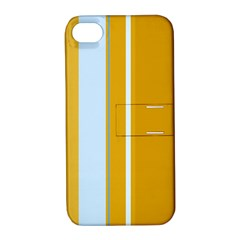 Yellow Elegant Lines Apple Iphone 4/4s Hardshell Case With Stand by Valentinaart