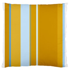 Yellow Elegant Lines Standard Flano Cushion Case (two Sides) by Valentinaart