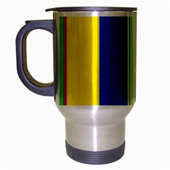 Colorful Lines Travel Mug (silver Gray) by Valentinaart