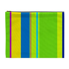 Colorful Lines Cosmetic Bag (xl) by Valentinaart
