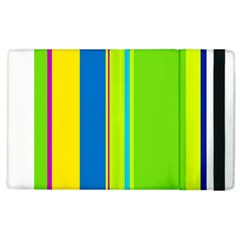 Colorful Lines Apple Ipad 2 Flip Case by Valentinaart