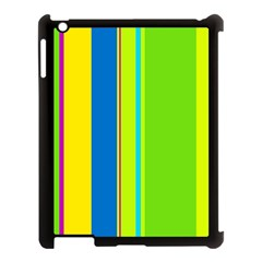 Colorful lines Apple iPad 3/4 Case (Black) by Valentinaart