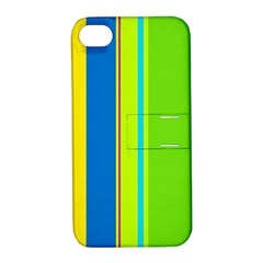 Colorful Lines Apple Iphone 4/4s Hardshell Case With Stand by Valentinaart
