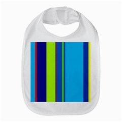 Blue And Green Lines Bib by Valentinaart