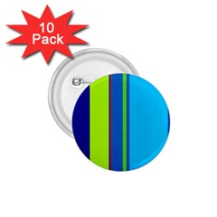 Blue And Green Lines 1 75  Buttons (10 Pack) by Valentinaart