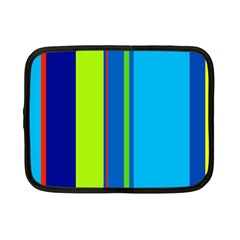 Blue And Green Lines Netbook Case (small)  by Valentinaart