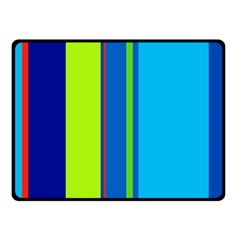 Blue And Green Lines Fleece Blanket (small) by Valentinaart