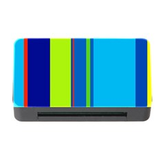 Blue and green lines Memory Card Reader with CF by Valentinaart