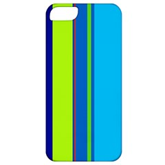 Blue And Green Lines Apple Iphone 5 Classic Hardshell Case by Valentinaart