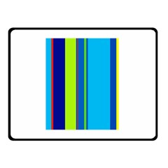 Blue And Green Lines Double Sided Fleece Blanket (small)  by Valentinaart