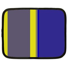 Blue And Yellow Lines Netbook Case (large) by Valentinaart