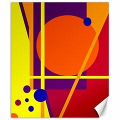 Orange Abstract Design Canvas 20  X 24   by Valentinaart