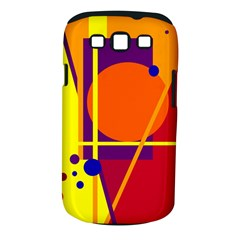 Orange Abstract Design Samsung Galaxy S Iii Classic Hardshell Case (pc+silicone) by Valentinaart