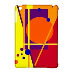 Orange Abstract Design Apple Ipad Mini Hardshell Case (compatible With Smart Cover) by Valentinaart