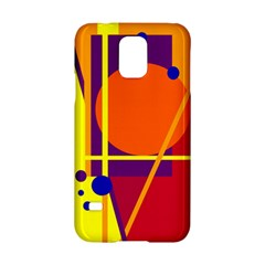 Orange Abstract Design Samsung Galaxy S5 Hardshell Case  by Valentinaart