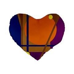 Decorative Abstract Design Standard 16  Premium Heart Shape Cushions by Valentinaart