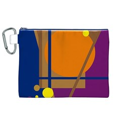 Decorative Abstract Design Canvas Cosmetic Bag (xl) by Valentinaart