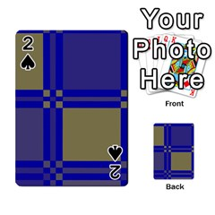 Blue Design Playing Cards 54 Designs  by Valentinaart