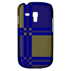 Blue Design Samsung Galaxy S3 Mini I8190 Hardshell Case by Valentinaart