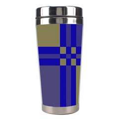 Blue Design Stainless Steel Travel Tumblers by Valentinaart