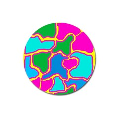 Colorful Abstract Design Magnet 3  (round) by Valentinaart