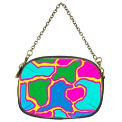 Colorful Abstract Design Chain Purses (two Sides)  by Valentinaart