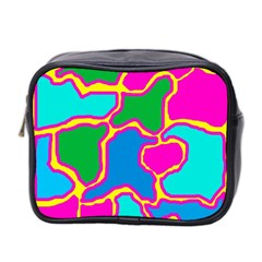 Colorful Abstract Design Mini Toiletries Bag 2 Side by Valentinaart