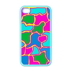 Colorful Abstract Design Apple Iphone 4 Case (color) by Valentinaart