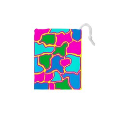 Colorful abstract design Drawstring Pouches (XS)  by Valentinaart