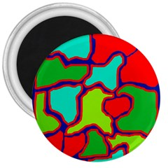 Colorful Abstract Design 3  Magnets by Valentinaart