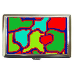 Colorful abstract design Cigarette Money Cases by Valentinaart