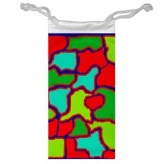 Colorful Abstract Design Jewelry Bags by Valentinaart
