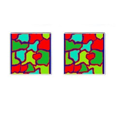 Colorful Abstract Design Cufflinks (square) by Valentinaart