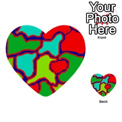 Colorful Abstract Design Multi Purpose Cards (heart)  by Valentinaart