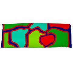 Colorful Abstract Design Body Pillow Case (dakimakura) by Valentinaart