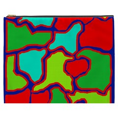 Colorful Abstract Design Cosmetic Bag (xxxl)  by Valentinaart
