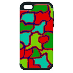 Colorful Abstract Design Apple Iphone 5 Hardshell Case (pc+silicone) by Valentinaart