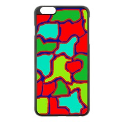 Colorful Abstract Design Apple Iphone 6 Plus/6s Plus Black Enamel Case by Valentinaart