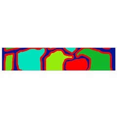 Colorful Abstract Design Flano Scarf (small) by Valentinaart